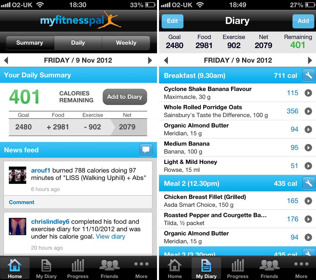 calorie workout android app