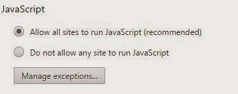 disable javascript in chrome