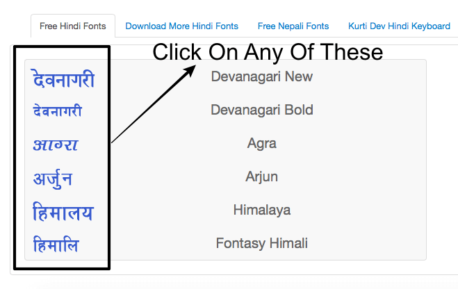 download hindi font