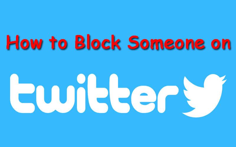 how to block somone on twitter