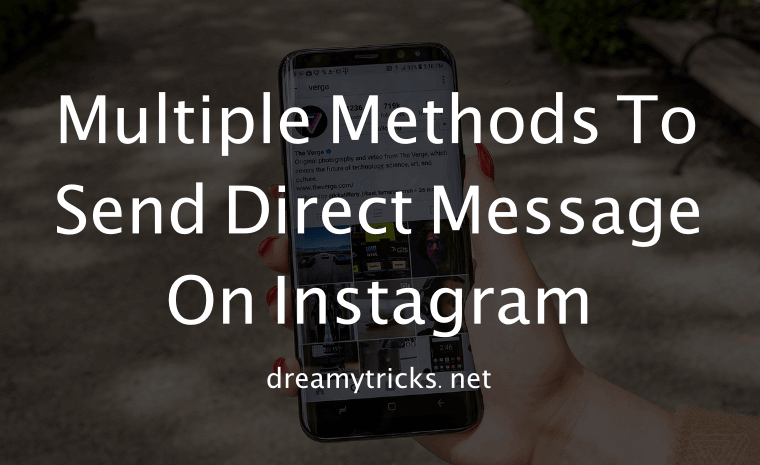 send direct message on instagram