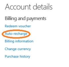 click on auto-recharge
